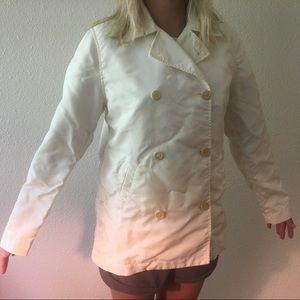 J. Crew White Pea Coat